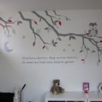 muurschildering grote slaapkamer